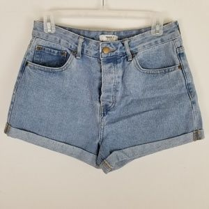 For ever 21 High Waist Denim Jeans Shorts Size 28